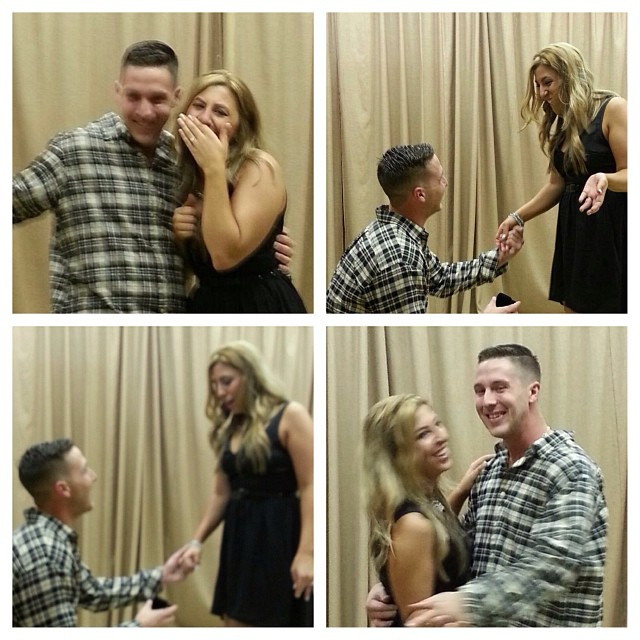 Thank you @grills66 for capturing the moment! #engaged #lookatthatsmile #shocked