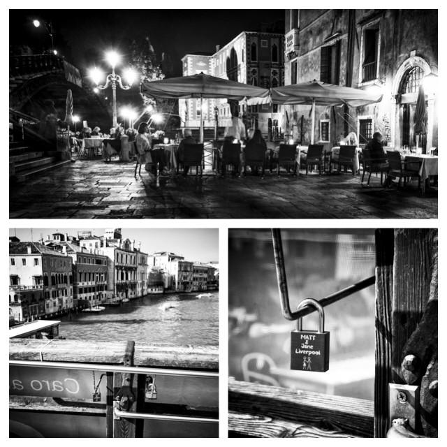 So Jane and I went to Venice and left our mark ! Vandals for the day ! #makelovelocks #lovelocks #venice #jane #matt #black #white #blackandwhite #fuji #Xpro1 #academa #bridge