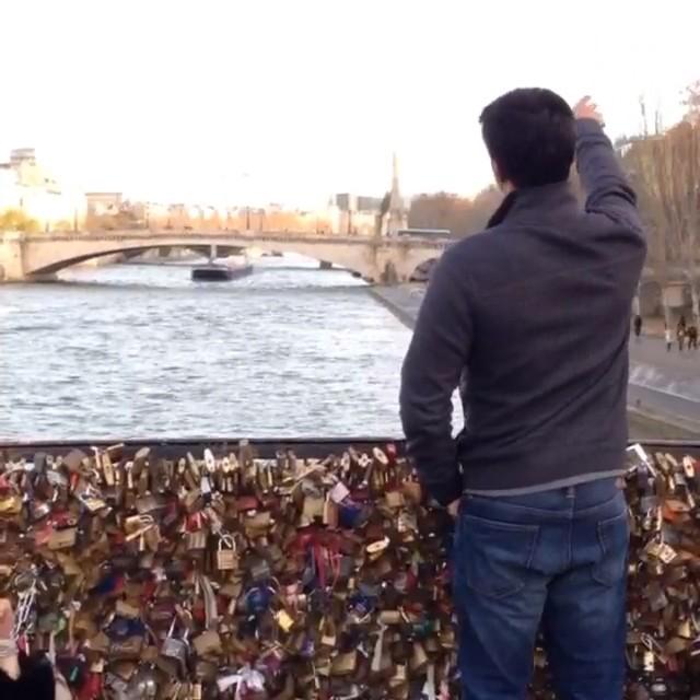 So keep your love locked down Locked our love & threw away the key #paris #lovelocks #jetaimeparis #makelovelocks #lovelockbridge
