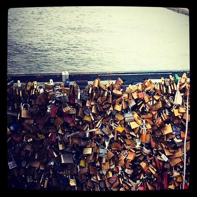 #paris #lovelockbridge #love #beautiful #cute #france #europe #bridge #lock #couple #travel #romantic #padlock #bestfriends #lovelock #holiday #cityoflove #adorable #notredame #amazing #dec2013 #jetaimeparis #denmark #paris2013 #makelovelocks #firstfamilytravel #christmastime #takemeback #eiffeltower #pontdearts