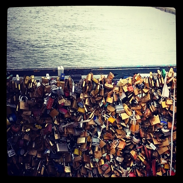 #paris #lovelockbridge #love #beautiful #cute #france #europe #bridge #lock #couple #travel #romantic #padlock #bestfriends #lovelock #holiday #cityoflove #adorable #notredame #amazing #dec2013 #jetaimeparis #denmark #paris2013 #makelovelocks #firstfamilytravel #christmastime #takemeback #eiffeltower #pontdearts