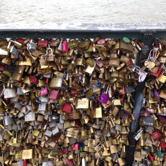 I can't wait to see it next year! #makelovelocks #pontdesarts #paris #lovelock #nofilter