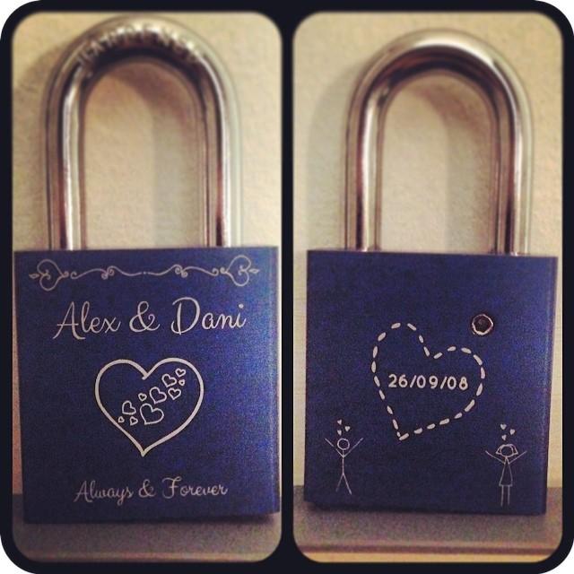 #valentinesday #present from @dgr25 #love #lock #makelovelocks #girlfriend #5years #sweetheart #hearts #alwaysandforever