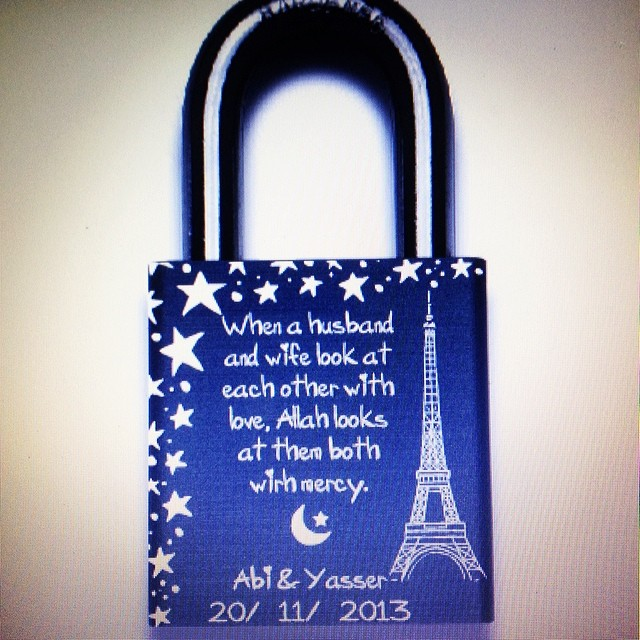 Can't wait to receive this and lock it onto the love lock bridge in May  </p> <span class=