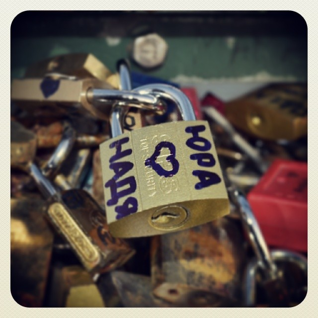 #paris #париж #love #lovelock