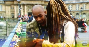 VH1 Series Black Ink Crew visit Paris - Ceaser proposes to Dutchess on the famous Love Lock Bridge, with a custom engraved love lock from us.