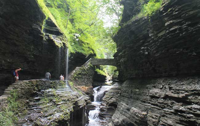 Watkins Glen State Park Bridge Photo: Andy Arthur / Flickr